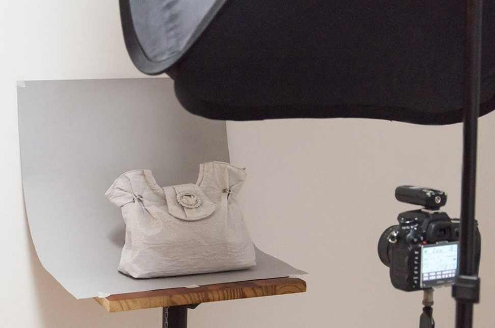 white on white product photography